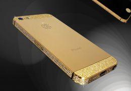 iPhone 5S banhado em ouro