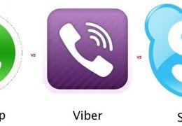 Qual o melhor aplicativo de mensagens: WhatsApp x Viber x Skype?