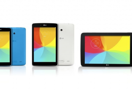 LG lança 3 novos tablets da linha G Pad