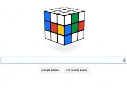 Cubo mágico faz sucesso como doodle do Google