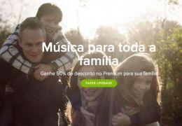 Spotify lança Plano Família