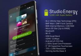 Blu lança smartphone Studio Energy