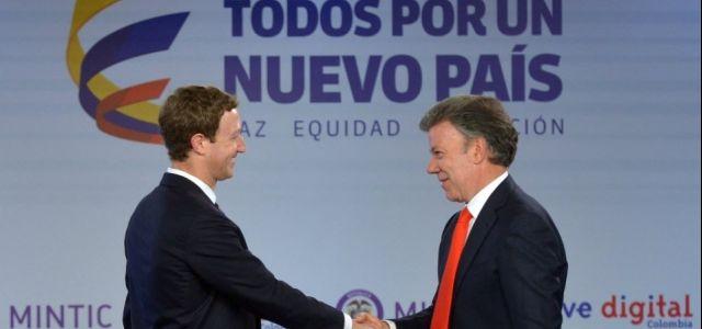 Zuckerberg lança Internet.org na Colômbia