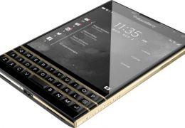Blackberry lança versão de luxo do Passport