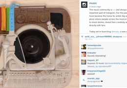 Instagram lança a conta @music