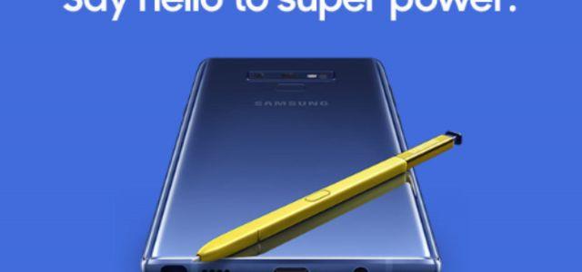 Samsung apresenta novo Galaxy Note 9